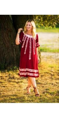 Батал-плаття з вишивкою
