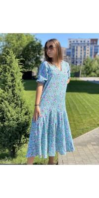 Плаття блакитне W-2