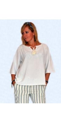 Блуза льляна біла
