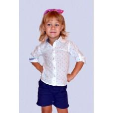Сорочка дитяча в горошок