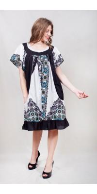 Плаття вільного крою з кишенями 6030