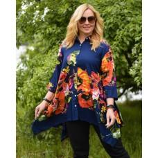 Блуза синя W-5