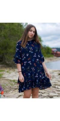 Плаття синє W-1
