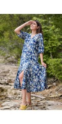 Плаття синє W-2