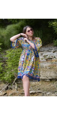 Плаття кольорове R-12
