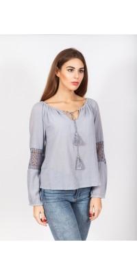 Блуза сіро-голуба LB_3