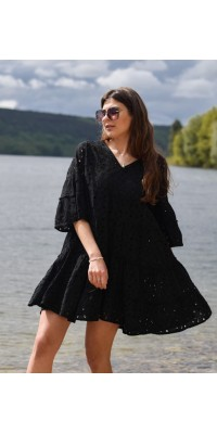 Плаття чорне з прошви 702
