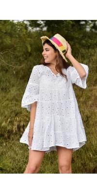 Плаття біле з прошви 702