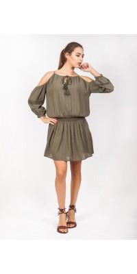 Плаття кольору хакі LB_5