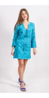 Плаття-туніка 17-2483 блакитне