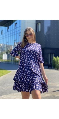 Плаття темно синє W-1