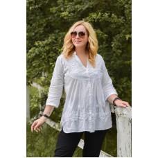 Блуза біла з вишивкою 101508