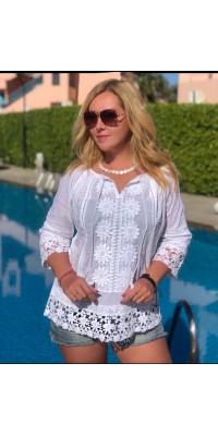 Блуза біла 4906