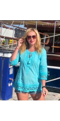 Блуза блакитна 4942