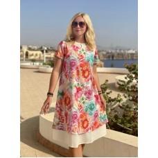 Блуза льон жовта W-13